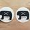 """Thumbnail: Komplet 2 podkładek filcowych pod kubki """"Ślężański Niedźwiedź"""""""