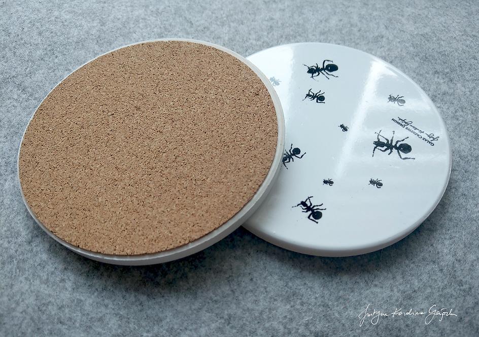 2 podkładki ceramiczne - Mrówki