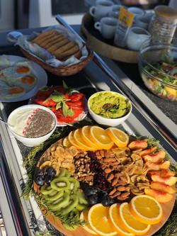 Morning fruit platter