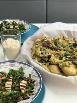 Pasta and pear salad