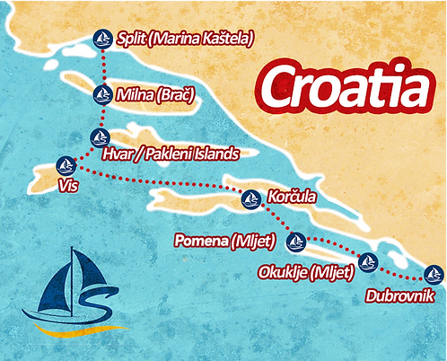 Sail Croatia Itinerary