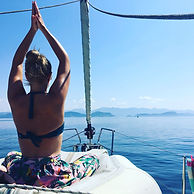 Yoga sailing holiday on a yacht