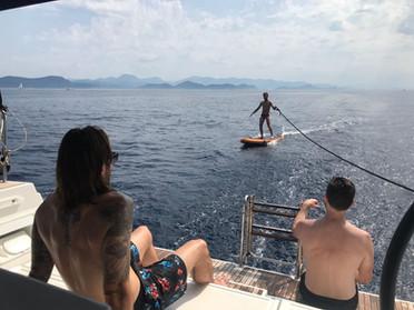 gay sailing swim stop