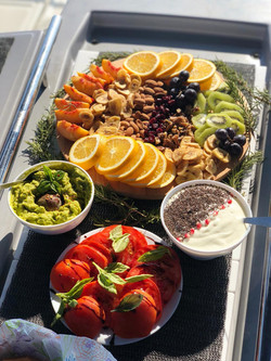 Snack plate and dips