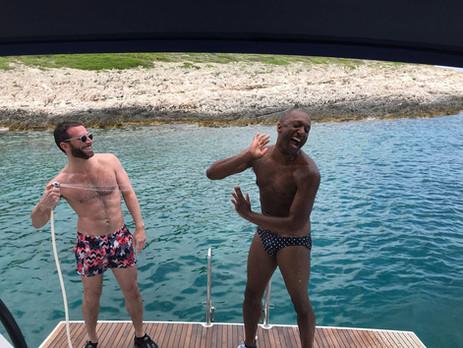 Gay sailing swimming activites