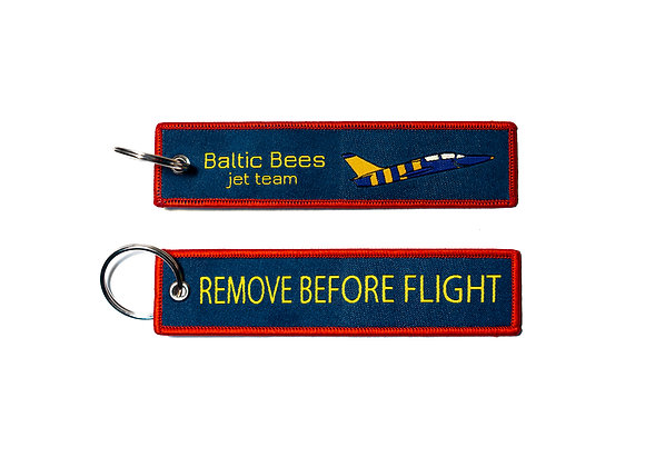 """REMOVE BEFORE FLIGHT"" KEYCHAIN NEW DESIGN Navy Blue"