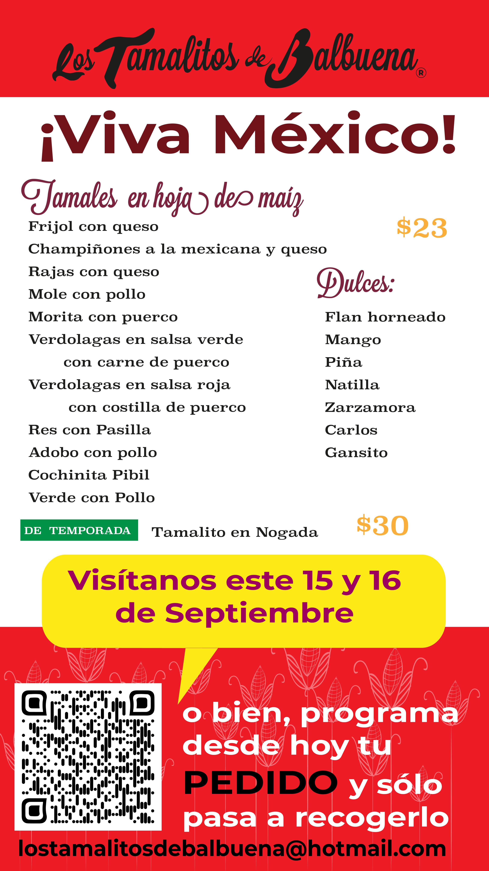 EN HOJA DE MAIZ PARA 15 Y 16 SEPTIEMBRE