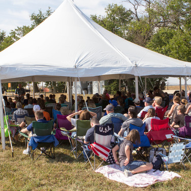 Church gathering for Sunday morning worship