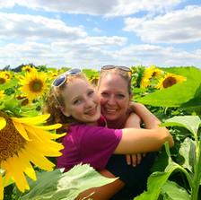 Plenty of photo ops in sunflower field!