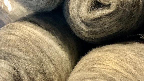 Grey Icelandic Wool Rovings