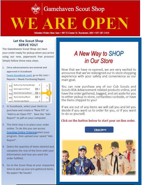 We are Open flyer on website.JPG