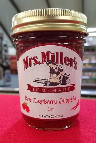 Red Raspberry Jalapeno Jam - 9 oz