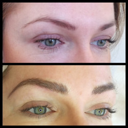 Microbladed brows