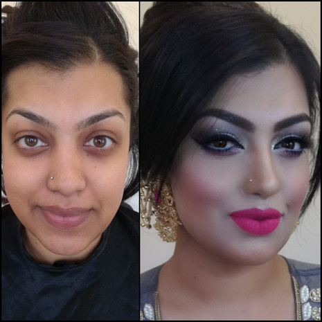 Wedding Make Up Before and After