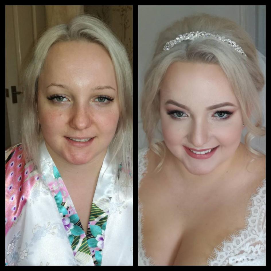Beautiful bride make up and hair