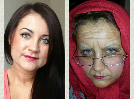 Before and after special fx makeup