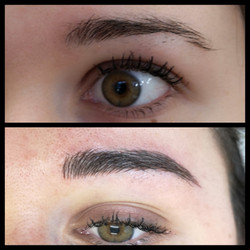 structured brow