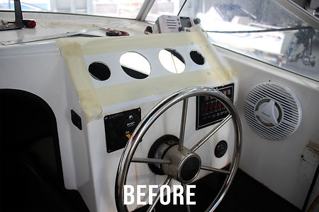 fibreglass dash repair before