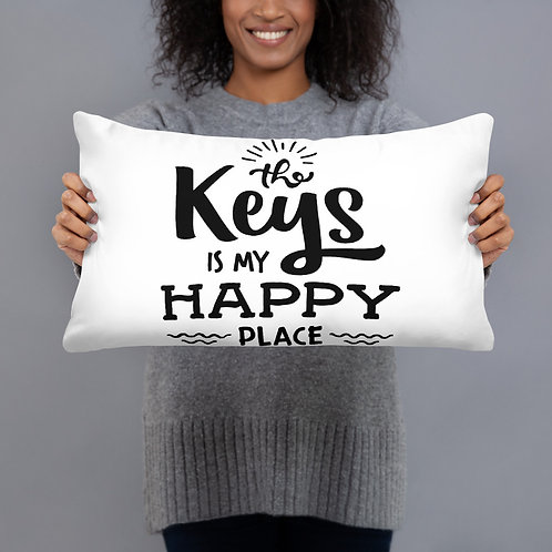 The Keys Happy Place Pillow