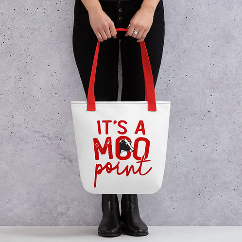 A Moo Point Friends TV Show Inspired Tote bag