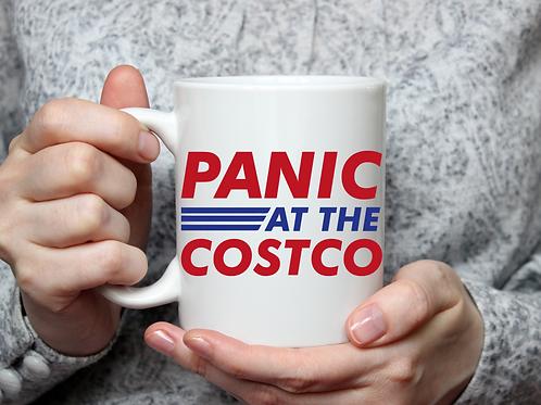 Panic at the Costco mug