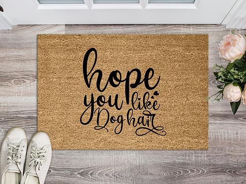 Hope you like dog hair
