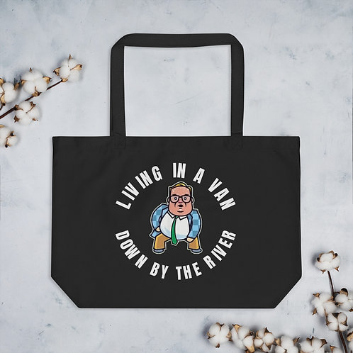 Living in a Van Chris Farley Inspired Large organic tote bag