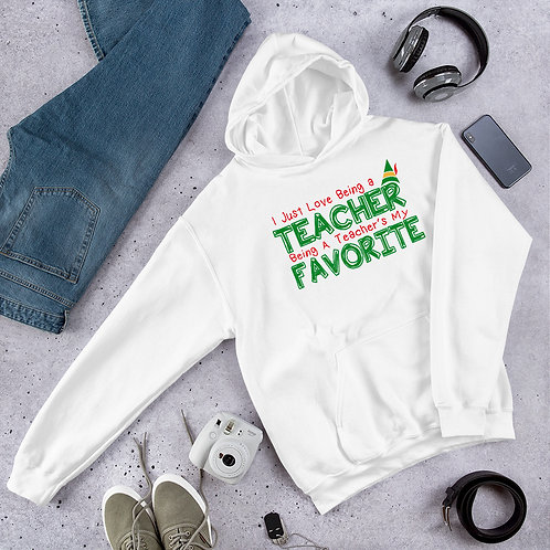 Love Being a Teacher Elf Movie Inspired Unisex Hoodie