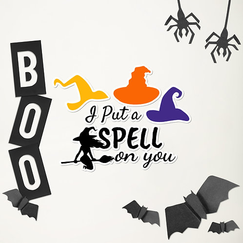 I Put a Spell on You Bubble-free stickers