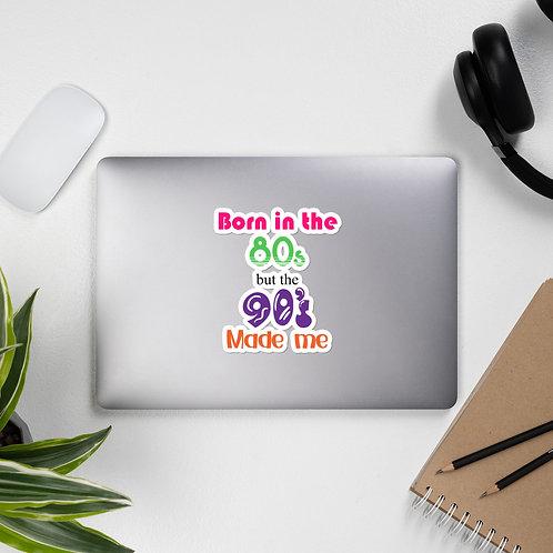 Born in the 80s Bubble-free stickers