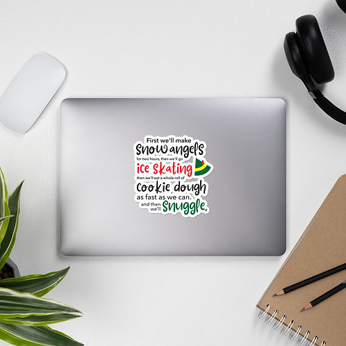 Elf Movie Inspired Bubble-free stickers