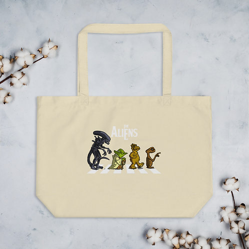 The Aliens large organic tote bag