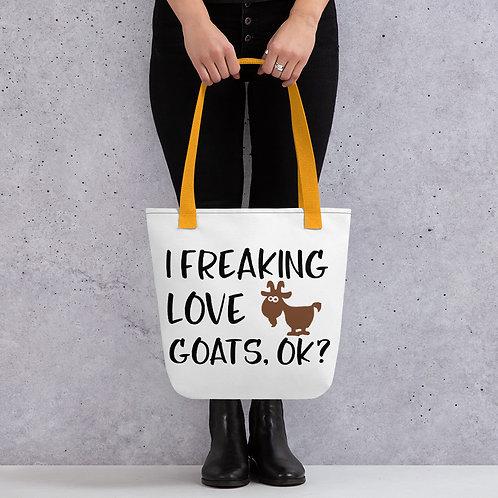 Freaking Love Goats Okay Tote Bag