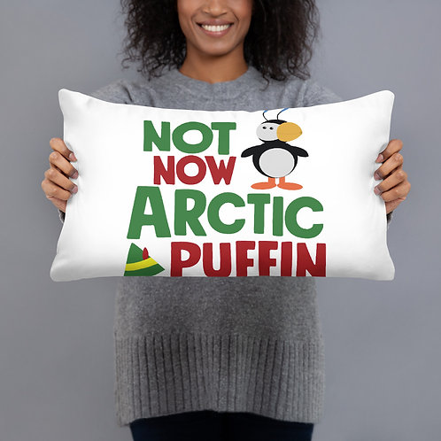 Not Now Arctic Puffin Pillow