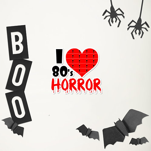 80s Horror Movies Bubble-free stickers