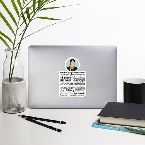 Dwight Schrute The Office Bubble-free stickers