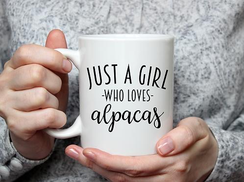 Just a girl who loves alpacas mug