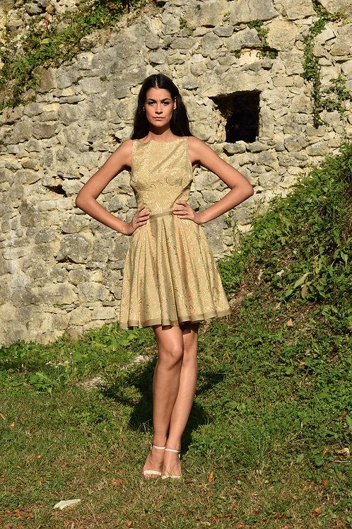 Kratka zlatna haljina