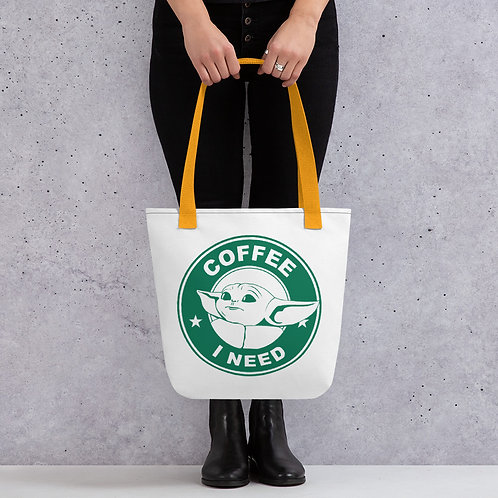 Baby Yoda Coffee Tote Bag