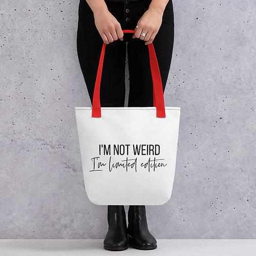 I'm Not Weird Tote bag