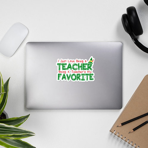 Elf Movie Inspired Teacher Bubble-free stickers