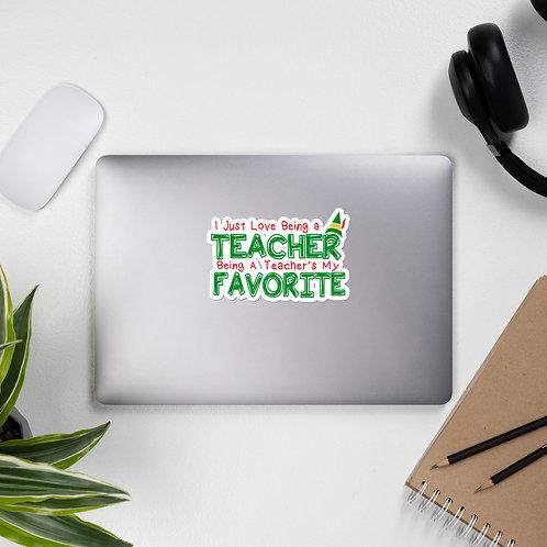Elf Movie Inspired Teacher Bubble-free stickers
