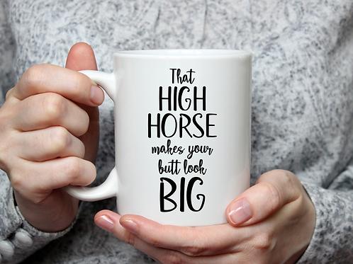 High horse mug