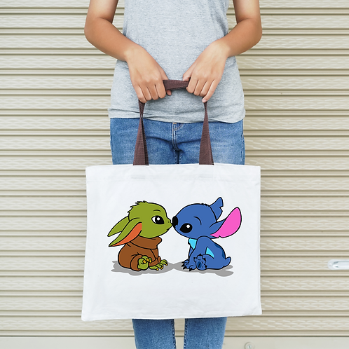 Baby Yoda and Stitch