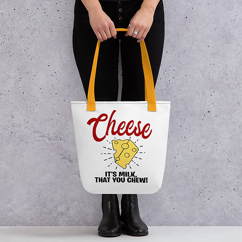 Cheese, It's Milk That You Chew Friends TV Show Chandler Bing Quote Tote bag