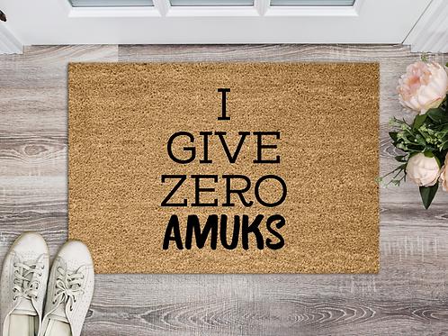 I Give Zero Amuks 18x30 Coir Doormat