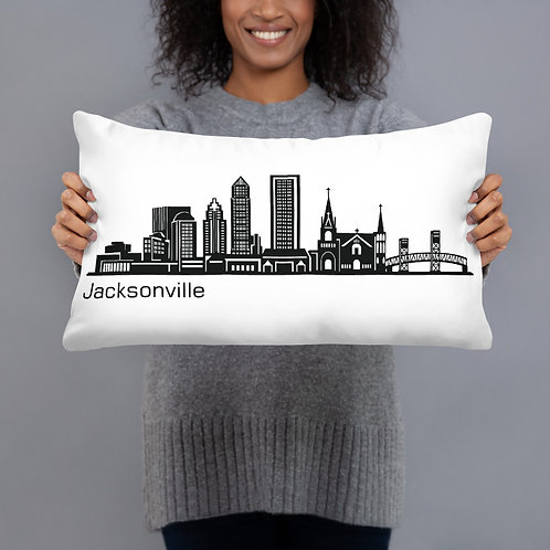 Jacksonville Skyline Pillow