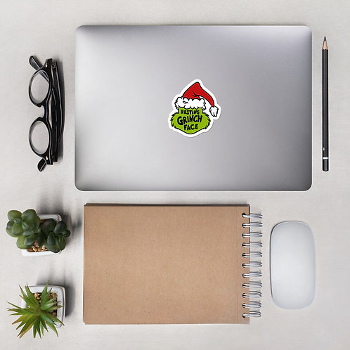 Resting Grinch Face Bubble-free stickers