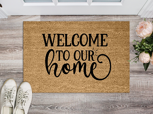 Welcome to our home 18x30 Coir Doormat