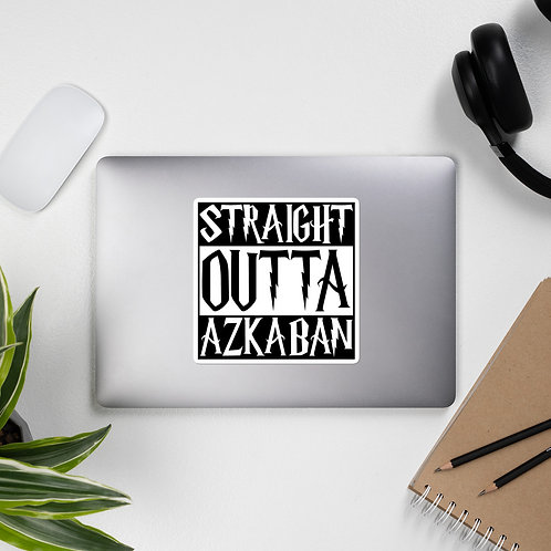 Straight Outta Azkaban Bubble-free stickers